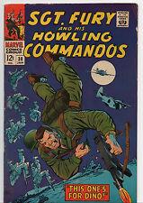 SGT FURY & HOWLING COMMANDOS #38 (1967, Marvel) 7 FN/VF in Mylar