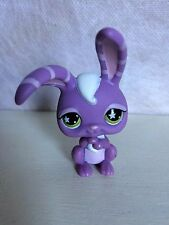 Littlest Pet Shop #828 PURPLE EASTER BUNNY RABBIT Striped Ears Star Eyes