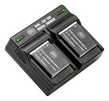BM 2X NB-6LH Batteries & Charger for Canon SX170 IS SX260 HS, SX280 HS, SX500 IS