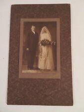 Vintage Antique Wedding Photograph of Couple