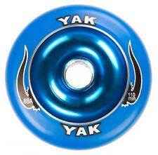 110mm x 88a, 2 blue YAK SCAT Metalcore Scooter Wheels with bearings