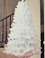 6 foot white ARTIFICIAL CHRISTMAS HANUKKAH NEW YEARS HOLIDAY TREE  FIREPROOF.