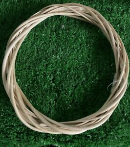 "Wicker / Willow Wreath Light Willow Rings- 10 ""(25cm) dia.-Single"