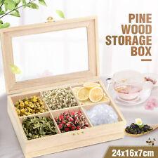 6 Slot Wooden Essential Oil Bottle Tea Wooden Box Storage Aromatherapy Organizer