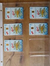 Hawesta Phone Cards 5 Piece Ganze Series Very Rarely, 1000er Edition