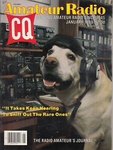 QST Magazine Amateur Radio Ham Magazine - JAN. 1988 - GREAT LAB DOG COVER !