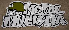 """METAL MULISHA White Text Logo Helmet Skate Sticker 8"""" motocross skateboard decal"""