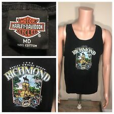 Vintage 1995 Harley Davidson TShirt Richmond Virginia General Lee Rally tank top