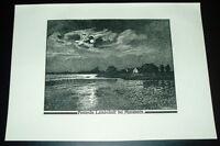 Posen Landschaft Margonin: alte Ansicht Druck ca 1920