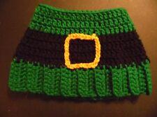 Hand Crochet Saint Patrick's Messy Bun Hat/Adult's Hat 93