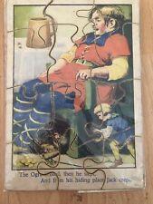Vintage Jack And The Beanstalk Puzzle Wooden Kids Puzzle 1950 Wooden Puzzle