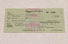 Vintage 1970 Narragansett Beer Cranston Rhode Island Ri Employee Check Paper