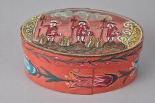 Antique german bride box primitive wood PA black forest handpainted