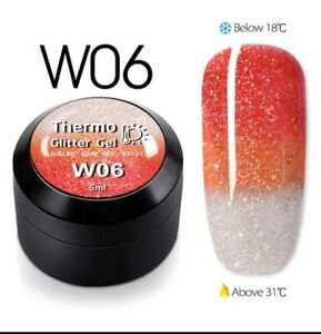 Temperature Change Glitter Color Gel Polish Cool Thermal Magic Effect Nail care