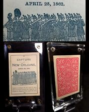 c1865 American Civil War Parlor Game Antique Playing Cards New Orleans Single