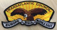 Scouts Transatlantic Council Europe Africa Middle East shoulder patch Badge 12cm