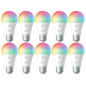 10 Pack Sengled Smart Color Changing Bluetooth Mesh Dimmable LED Bulb A19 E26