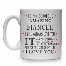 TO MY GORGEOUS AMAZING FIANCEE FEMALE WOMAN GIFT MUG CUP PRESENT BIRTHDAY IDEAS