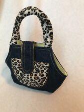 Webkinz Carrier Bag Holder Animal Print Sparkle Denim Purse