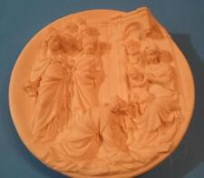 """8 1/2"""" collector plate 3D alabaster Adoration of the Maji 1983 Italy Santangela"""
