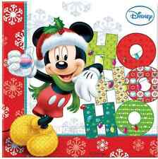 Mickey & Minnie Mouse Christmas | Tree | Presents Party Paper Napkins 1-120pk