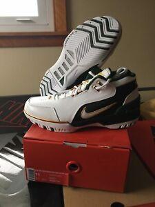 Nike Air Zoom Generation SVSM QS Lebron Mens Shoes White/Green AO2367 100 Sz 11