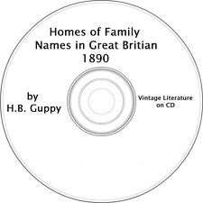 The Homes of Family Names in Great Britain (1890) on CD