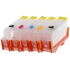 Empty Refillable Ink Cartridges for HP 564 564XL - 5pk (PGBK + BCMY) + 5 Syringe