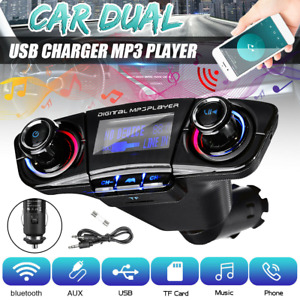 Wireless Car FM Transmitter Bluetooth Handsfree Kit AUX MP3 Player USB Charger