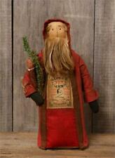 """New Primitive Folk Art Antique Style SANTA TOY SHOP DOLL WITH CANDLE Figure 16"""""""