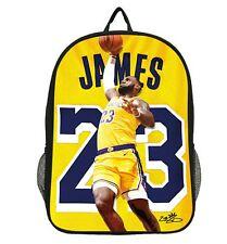 James # 23 Jump Picture Basketball Backpack School Bag