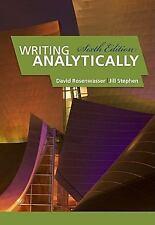 Writing Analytically by Jill Stephen and David Rosenwasser (2011, Paperback) NEW