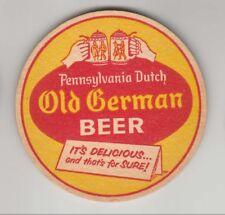 PENNSYLVANIA DUTCH Old German Beer Coaster LEBANON VALLEY BREWING 1950s-60's  PA