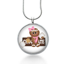 S'more necklace- girl scouts,daisies, Gingerbread, marshmallows, Chocolate lover