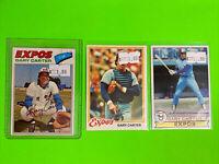 🔥1977-79🔥 HOF MONTREAL EXPOS GARY CARTER - VINTAGE Topps Baseball Card LOT X3