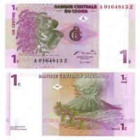 Pick 80 Kongo / Congo 1 Centime 1997 Unc. / 654578vvv