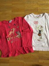 Mädchen Set Aus 2 Langarm Shirts Gr.116 Bunt Gute Zustand !!!