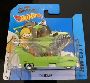 Hot Wheels 2014 THE HOMER GREEN THE SIMPSONS VHTF SHORT CARD