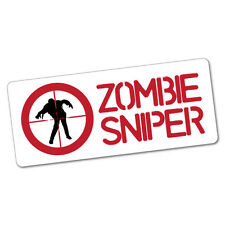Zombie Sniper Sticker Decal Car Funny Hunting #5317ST