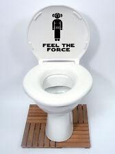 star wars style2 feel the force Toilet Seat Sticker Fun Decal Vinyl Sticker