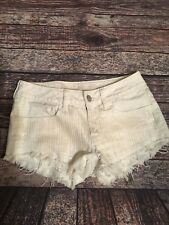 American Eagle Women's Shorts White With Matte Sequin detail size 2