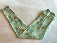 LuLaRoe OS Leggings Light Mint Green Aqua Mustard Roses Floral One Size Boho EUC
