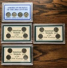 Lot Of 4 American Nickels Of The 20th Century & 1 Last Year Of Issue Mint Mark