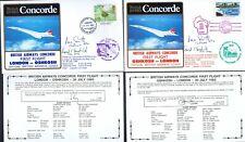 '85 TWO BA CONCORDE FT SFO SMITH & SEO MacDONALD SIGNED COVERS_LON-OSHKOSH-LON_R