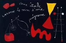 1938 Joan Miro A Star Caresses The Breasts Of A Negro Woman Negress Art Print
