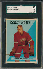 1958-59 TOPPS #8 GORDIE HOWE - SGC 60 EX 5 (SVSC) CENTERED!