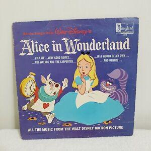 Walt Disney's Alice in Wonderland Soundtrack Vinyl Record LP 1208 Vintage 1963