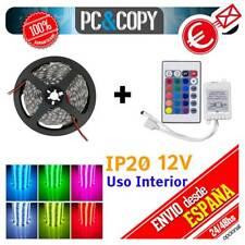 R1249 5M Tira LED RGB 12v SMD5050 + controlador + Mando Luces Interior Cinta Fle