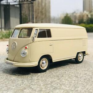 WELLY 1:24 For 1963 Volkswagen T1 T2 BUS Alloy Diecast Static Car Model Men Gift