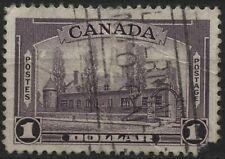 Canada 1938 #245 $1.00 dull violet Chateau de Ramezay used